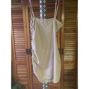 Urban Outfitters Dresses - Urban Outfitters side gathered tan tank dress